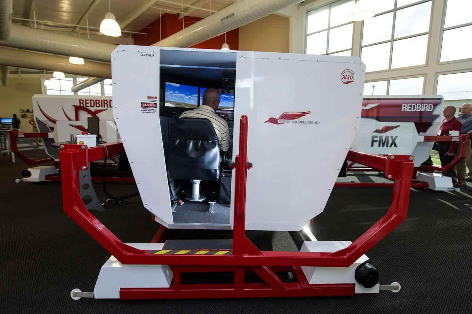 Redbird FMX flight simulator in Florida